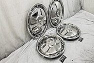 1985 Buick Riviera Stainless Steel Hubcaps AFTER Chrome-Like Metal Polishing - Stainless Steel Polishing