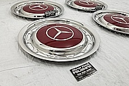 Mercedes Benze Stainless Steel Hubcaps AFTER Chrome-Like Metal Polishing - Stainless Steel Polishing and Custom Painting Services