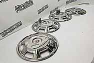 1967 Cadillac Eldorado Stainless Steel Hubcaps AFTER Chrome-Like Metal Polishing and Buffing Services - Aluminum Polishing and Custom Painting Services