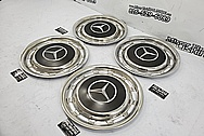 Stainless Steel Mercedes Benz Hubcaps AFTER Chrome-Like Metal Polishing and Buffing Services / Restoration Services - Steel Polishing Services Plus Custom Painting Services