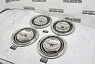 1966 Lincoln Continental Stainless Steel Hubcaps AFTER Chrome-Like Metal Polishing and Buffing Services / Restoration Services - Steel Polishing Services Plus Custom Painting Services