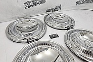 Stainless Steel Hubcaps AFTER Chrome-Like Metal Polishing and Buffing Services - Stainless Steel Polishing - Hubcap Polishing