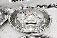 1966 Cadillac Stainless Steel Hubcaps AFTER Chrome-Like Metal Polishing and Buffing Services - Stainless Steel Polishing - Hubcap Polishing