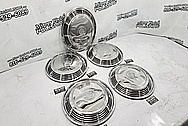 1973 Cadillac Stainless Steel Hubcaps AFTER Chrome-Like Metal Polishing and Buffing Services - Stainless Steel Polishing - Hubcap Polishing