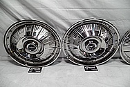1964 Ford Thunderbird Aluminum Hubcaps AFTER Chrome-Like Metal Polishing and Buffing Services
