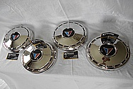 1965 Plymouth Valiant Steel Hubcaps AFTER Chrome-Like Metal Polishing and Buffing Services / Restoration Services Plus Dent Removal Services