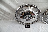 1967 Cadillac Eldorado Stainless Steel Hubcaps AFTER Chrome-Like Metal Polishing and Buffing Services - Stainless Steel Polishing