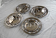 Mercedes Benz Stainless Steel Hubcaps AFTER Chrome-Like Metal Polishing - Stainless Steel Polishing