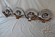 Plymouth Stainless Steel Hubcaps AFTER Chrome-Like Metal Polishing - Stainless Steel Polishing
