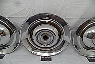 1953 Cadillac Sombrero Stainless Steel Hubcaps AFTER Chrome-Like Metal Polishing - Stainless Steel Polishing