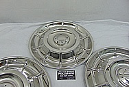 1958 Chevrolet Corvette Stainless Steel Hubcaps AFTER Chrome-Like Metal Polishing and Buffing Services - Stainless Steel Polishing