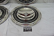 1964 Lincoln Continental Stainless Steel Hub Caps AFTER Chrome-Like Metal Polishing and Buffing Services - Stainless Steel Polishing - Custom Painting