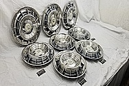 1959 Cadillac Fleetwood Special Stainless Steel Hubcaps / Wheel Covers AFTER Chrome-Like Metal Polishing and Buffing Services / Restoration Services - Wheel Cover Polishing