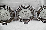 Aluminum Mercedez Benz Stainless Steel Hubcaps BEFORE Chrome-Like Metal Polishing and Buffing Services / Restoration Services