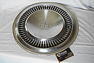 1964 Lincoln Continental Stainless Steel Hubcaps BEFORE Chrome-Like Metal Polishing and Buffing Services - Stainless Steel Polishing - Stainless Steel Painting