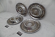 1958 Chevrolet Corvette Stainless Steel Hubcaps BEFORE Chrome-Like Metal Polishing and Buffing Services - Stainless Steel Polishing