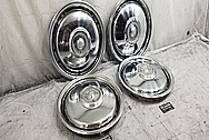 1985 Buick Riviera Stainless Steel Hubcaps BEFORE Chrome-Like Metal Polishing - Stainless Steel Polishing
