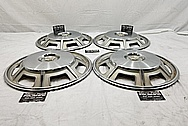 1967 Cadillac Eldorado Stainless Steel Hubcaps BEFORE Chrome-Like Metal Polishing and Buffing Services - Aluminum Polishing and Custom Painting Services
