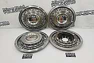 1954 Plymouth Stainless Steel Hubcaps BEFORE Chrome-Like Metal Polishing and Buffing Services - Stainless Steel Polishing - Hubcap Polishing