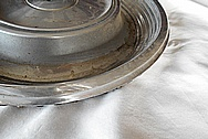 Aluminum Hub Caps BEFORE Chrome-Like Metal Polishing and Buffing Services / Restoration Services