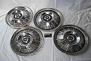1964 Ford Thunderbird Aluminum Hubcaps BEFORE Chrome-Like Metal Polishing and Buffing Services