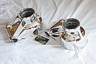 1985 Jaguar XJ Model Aluminum Hubs AFTER Chrome-Like Metal Polishing and Buffing Services