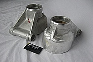 1985 Jaguar XJ Model Aluminum Hubs BEFORE Chrome-Like Metal Polishing and Buffing Services