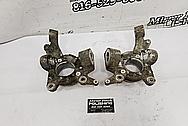 Nissan 300ZX Aluminum Wheel Hubs BEFORE Chrome-Like Metal Polishing and Buffing Services - Aluminum Polishing