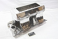 Edelbrock Victor Ram 2-R Aluminum Intake Manifold AFTER Chrome-Like Metal Polishing and Buffing Services / Restoration Services