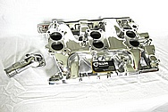 1966 Pontiac GTO Aluminum Tri Power Intake Manifold AFTER Chrome-Like Metal Polishing and Buffing Services / Restoration Services
