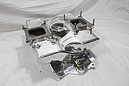 Weiand Aluminum Intake Manifold AFTER Chrome-Like Metal Polishing and Buffing Services / Restoration Services