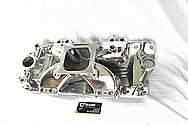 Edelbrock Victor Aluminum Intake Manifold AFTER Chrome-Like Metal Polishing and Buffing Services / Restoration Services