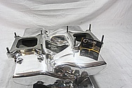 Weiand V8 Cross Ram Aluminum Intake Manifold AFTER Chrome-Like Metal Polishing and Buffing Services