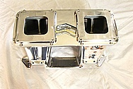Indy Performance Aluminum V8 Intake Manifold AFTER Chrome-Like Metal Polishing and Buffing Services