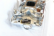 Edelbrock Aluminum V8 Engine Intake Manifold AFTER Chrome-Like Metal Polishing and Buffing Services