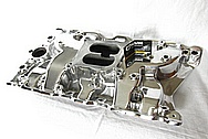 Edelbrock Aluminum V8 Intake Manifold AFTER Chrome-Like Metal Polishing and Buffing Services / Restoration Services