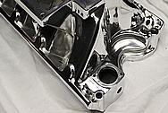 V8 Aluminum Blower Intake Manifold AFTER Chrome-Like Metal Polishing and Buffing Services