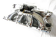 Rough Cast Aluminum V8 Intake Manifold AFTER Chrome-Like Metal Polishing and Buffing Services / Restoration Services
