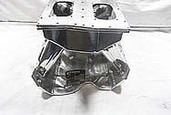 Rough Cast Aluminum V8 815 Cubic Inch Ford Sheet Metal Intake Manifold AFTER Chrome-Like Metal Polishing and Buffing Services / Restoration Services