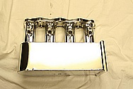 4 Cylinder Aluminum Intake Manifold AFTER Chrome-Like Metal Polishing and Buffing Services