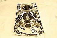 Chevy Nova V8 Aluminum Intake Manifold AFTER Chrome-Like Metal Polishing and Buffing Services