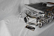 V8 Engine Aluminum Blower Intake Manifold AFTER Chrome-Like Metal Polishing and Buffing Services / Restoration Services