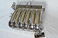 Mitsubishi 3000GT Aluminum Upper Intake Manifold AFTER Chrome-Like Metal Polishing and Buffing Services