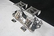 Weiand Aluminum Tunnel Ram Intake Manifold AFTER Chrome-Like Metal Polishing and Buffing Services / Restoration Services