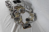 Holley Aluminum V8 Engine Intake Manifold AFTER Chrome-Like Metal Polishing and Buffing Services / Restoration Services