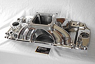 Edelbrock Vicotor Aluminum Intake Manifold AFTER Chrome-Like Metal Polishing and Buffing Services / Restoration Services