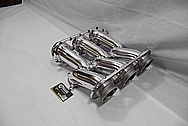 2010 Nissan GTR Japan Aluminum Mines Surge Tank / Intake Manifold AFTER Chrome-Like Metal Polishing and Buffing Services / Restoration Services