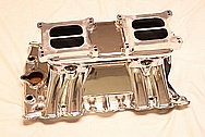Tunnelram Aluminum V8 Intake Manifold AFTER Chrome-Like Metal Polishing and Buffing Services
