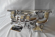Aluminum Rough Cast Intake Manifold AFTER Chrome-Like Metal Polishing and Buffing Services / Restoration Services