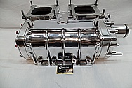 Aluminum Supercharger / Blower Intake Manifold AFTER Chrome-Like Metal Polishing and Buffing Services / Restoration Services